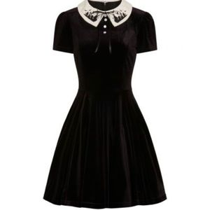 Hell Bunny Dresses - Hell Bunny Velvet Graveyard Mini Dress 🖤